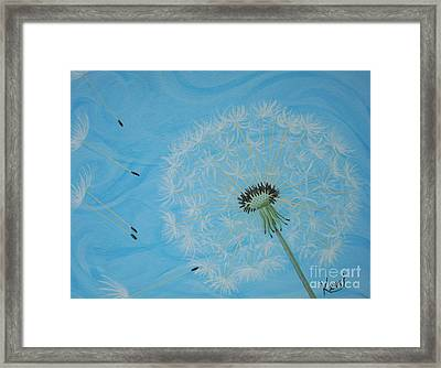 Attack On The Garden Framed Print by Kerri Ertman