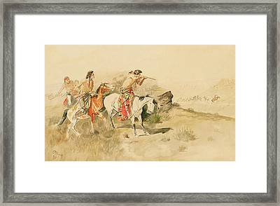 Attack On The Muleteers Framed Print by Charles Marion Russell