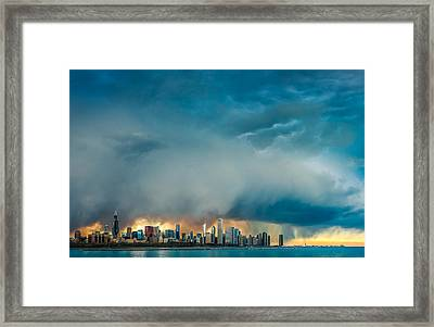 Attention Seeking Clouds Framed Print by Cory Dewald