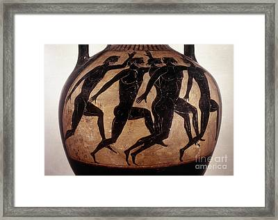 Attic Black-figured Vase Framed Print by Granger