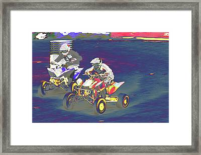 Atv Racing Framed Print by Karol Livote