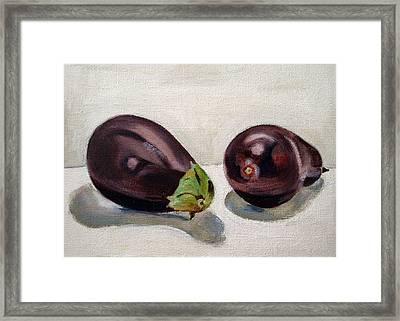 Aubergines Framed Print by Sarah Lynch