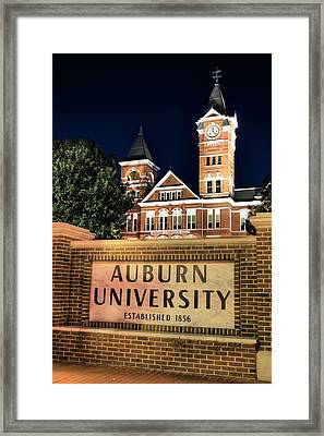 Auburn University Framed Print by JC Findley