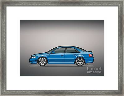 Audi A4 S4 Quattro B5 Type 8d Sedan Nogaro Blue Framed Print by Monkey Crisis On Mars