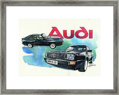 Audi Quattro Sport Framed Print by Yoshiharu Miyakawa