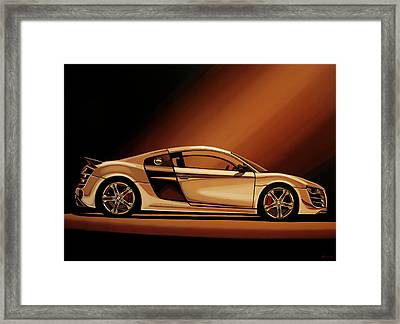 Audi R8 2007 Painting Framed Print by Paul Meijering