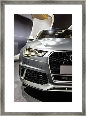 Audi Rs 6 Framed Print by Rick Deacon