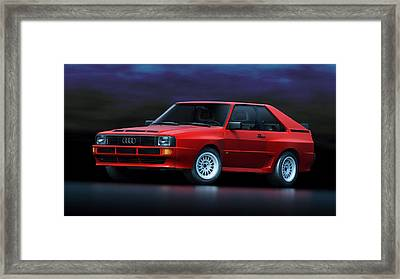 Audi Sport Quattro Framed Print by Marc Orphanos