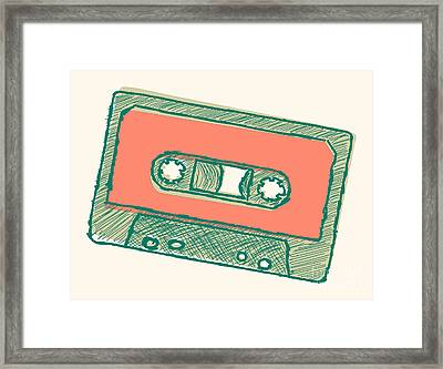 Audio Tape Sketch Framed Print by Shawn Hempel