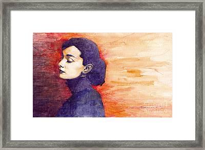 Audrey Hepburn 1 Framed Print by Yuriy  Shevchuk