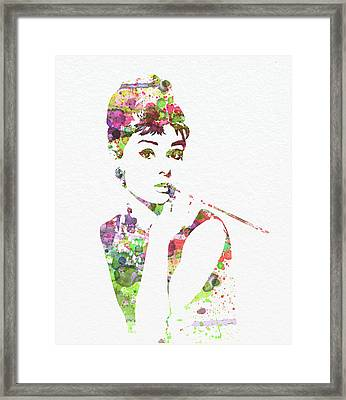 Audrey Hepburn 2 Framed Print by Naxart Studio