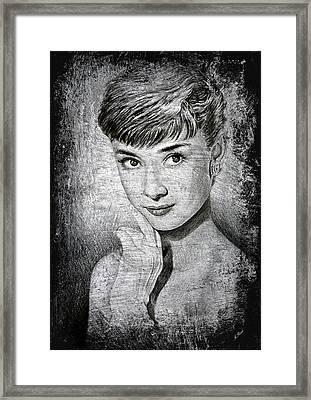 Audrey Hepburn Framed Print by Andrew Read