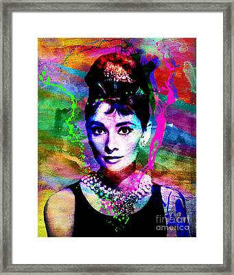 Audrey Hepburn Art Framed Print by Ryan Rock Artist