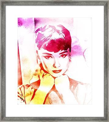Audrey Hepburn Framed Print by The DigArtisT
