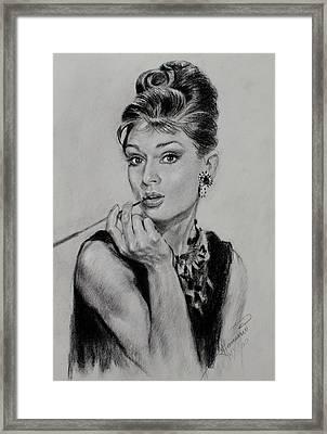 Audrey Hepburn Framed Print by Ylli Haruni