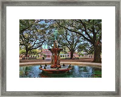 Audubon Zoo Fountain Framed Print by Thomas Soliz
