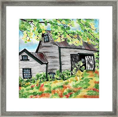 August Barn Framed Print by Linda Marcille