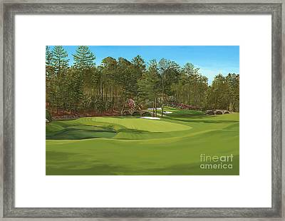 Augusta 11 And12th Hole Framed Print by Tim Gilliland