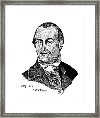 Auguste Chouteau Framed Print by Clayton Cannaday