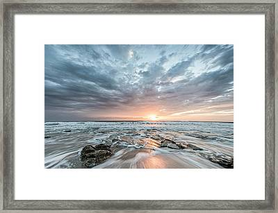 Augustine Sunrise Framed Print by Jon Glaser