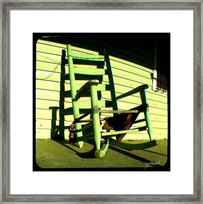 Aunt Maries Porch Framed Print by Melissa Wyatt
