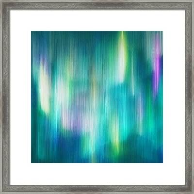 Aurora Borealis Abstract Framed Print by Lourry Legarde