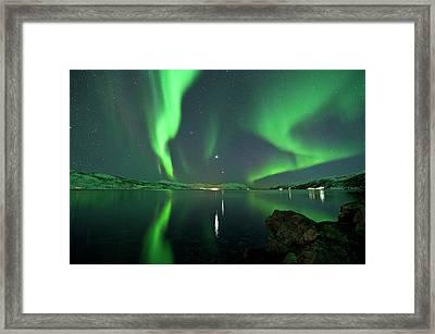 Aurora Borealis Framed Print by Bernt Olsen