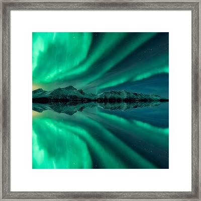 Aurora Square 2 Framed Print by Tor-Ivar Naess