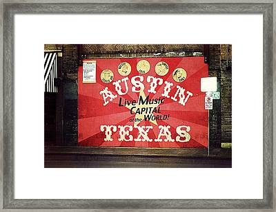 Austin Live Music Framed Print by Trish Mistric