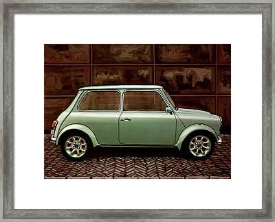 Austin Mini Cooper Mixed Media Framed Print by Paul Meijering