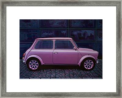 Austin Mini Cooper 1964 Painting Framed Print by Paul Meijering