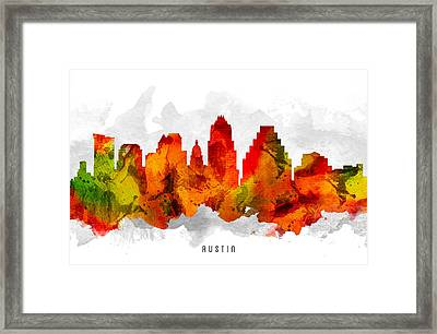 Austin Texas Cityscape 15 Framed Print by Aged Pixel
