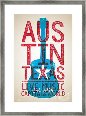 Austin Texas - Live Music Framed Print by Jim Zahniser