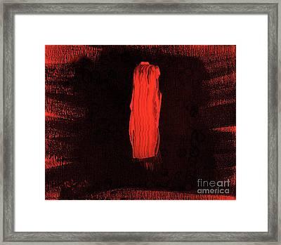 Australian Aborigine Man 2 Framed Print by Richard W Linford