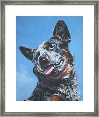 Australian Cattle Dog 2 Framed Print by Lee Ann Shepard