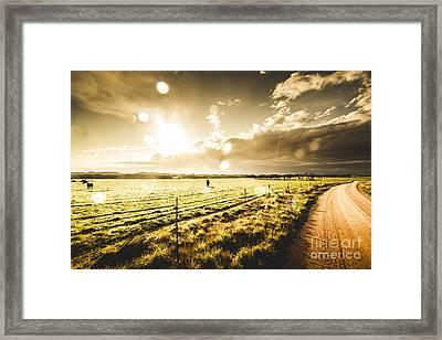 Australian Rural Dirt Road  Framed Print by Jorgo Photography - Wall Art Gallery