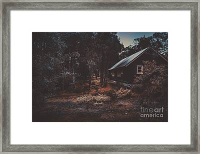 Australian Shack In A Dense Autumn Forest Framed Print by Jorgo Photography - Wall Art Gallery