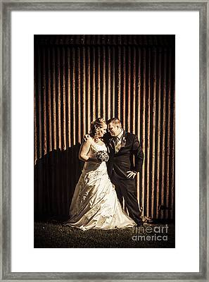 Australian Summer Wedding At Outback Country Scene Framed Print by Jorgo Photography - Wall Art Gallery