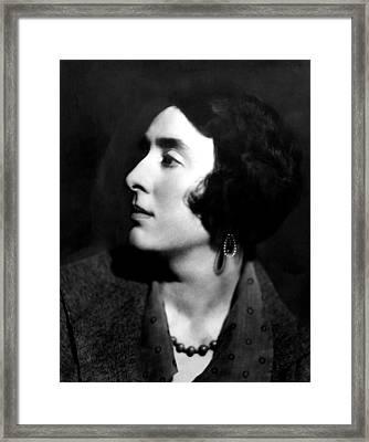 Author Vita Sackville-west Framed Print by Everett