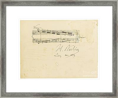Autograph Album-leaf For Douard Silas Framed Print by Celestial Images