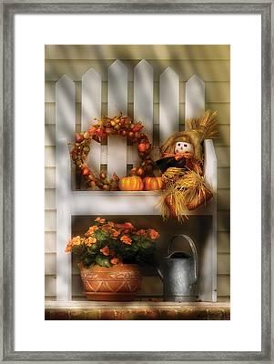 Autumn - Still Life - Symbols Of Autumn  Framed Print by Mike Savad