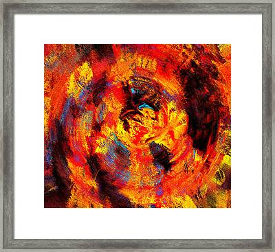 Autumn 10-2 Abstract  Framed Print by Abstract Angel Artist Stephen K