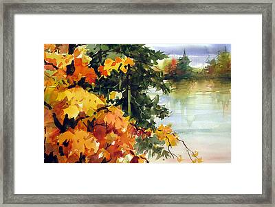 Autumn Ablaze  Framed Print by Chito Gonzaga
