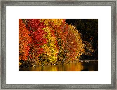 Autumn Afternoon At The Cove Framed Print by William Jobes