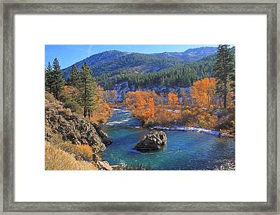 Autumn Along The Truckee River Framed Print by Donna Kennedy
