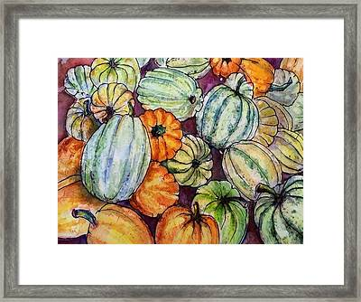 Autumn At Beth's Farmstand Framed Print by Gloria Avner