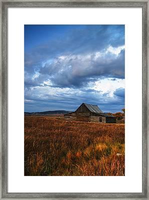 Autumn At Mormon Row Barn Grand Teton National Park Framed Print by Vishwanath Bhat