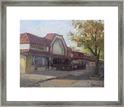 Autumn At Ocean Blue Tattoo Studio Framed Print by Ylli Haruni