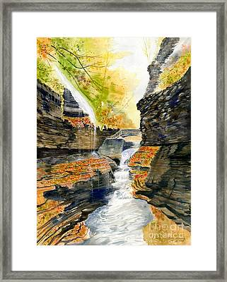 Autumn At Rainbow Falls  Framed Print by Melly Terpening