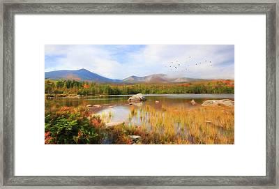 Autumn At Sandy Stream Pond Framed Print by Lori Deiter